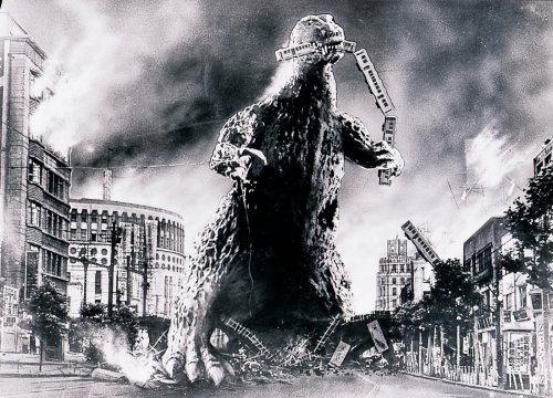 You have ten billion pounds to make one game. Go. Godzilla1954c